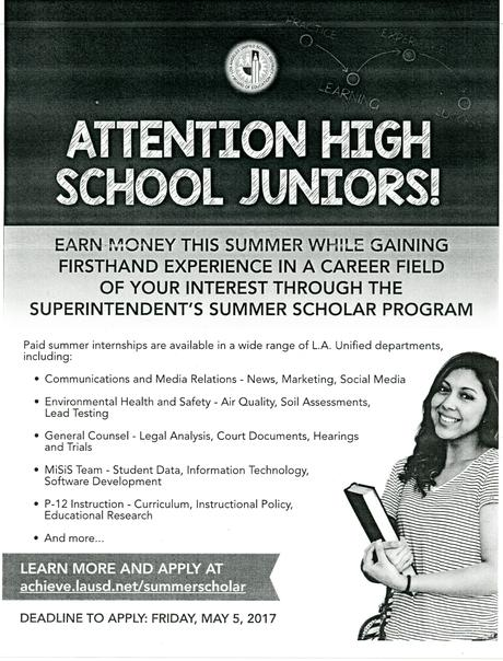Superintendent's Summer Scholar Program