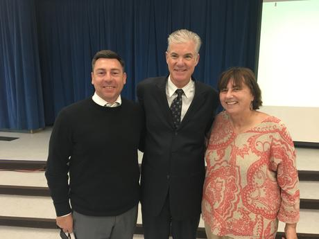 Sacramento--State Superintendent of Public Instruction: Mr. Tom Torlakson  presents CA Green Ribbon Schools Award to Ms. Fleming and Mr. Sznajder